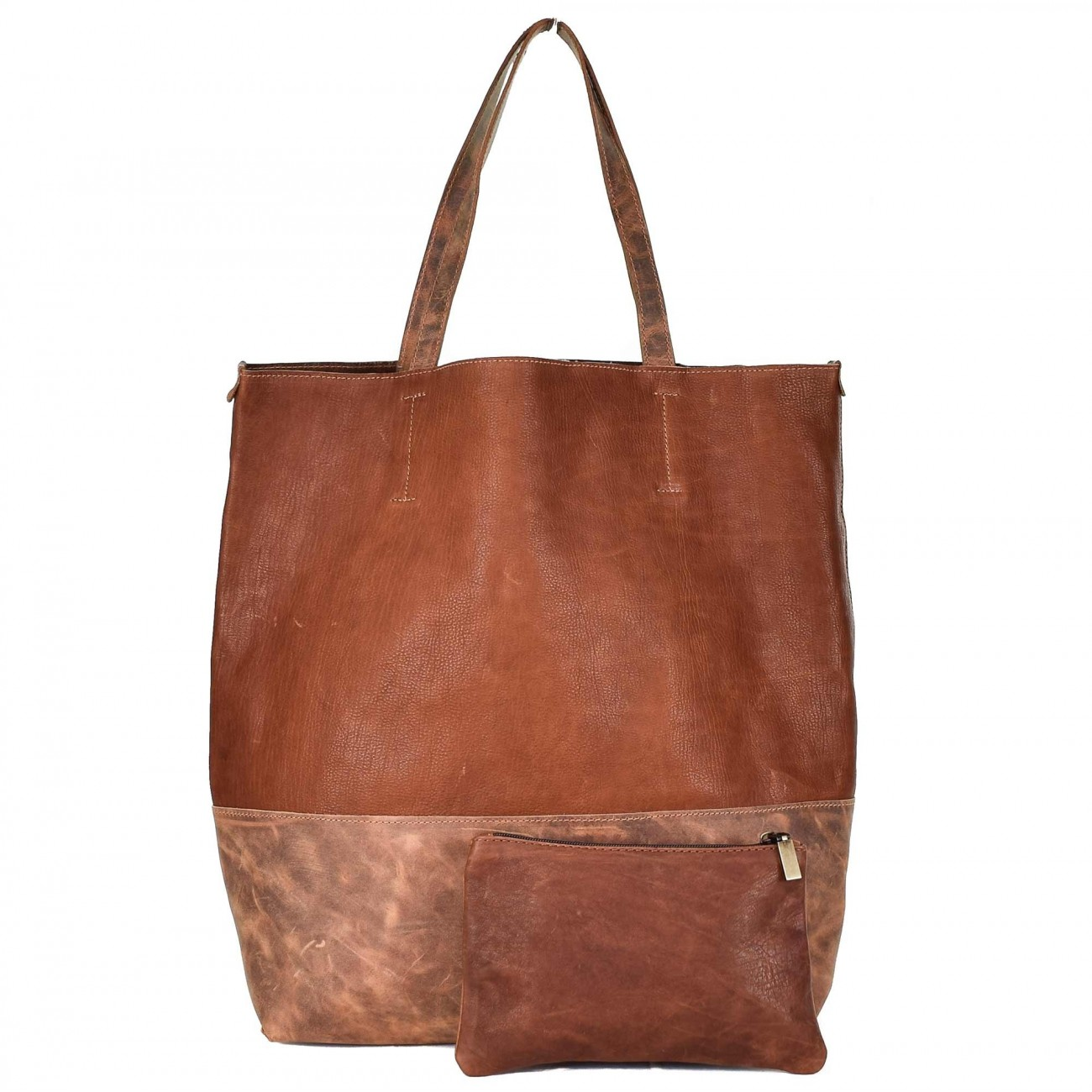 Leder Shopper Dark