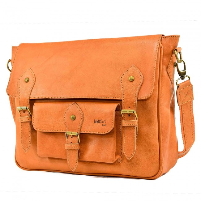 Ledertasche Orange