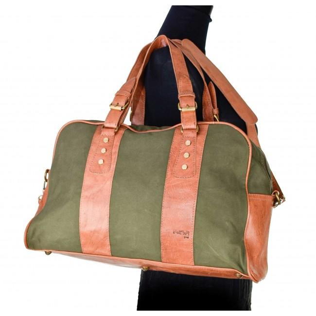 Tasche Canvas-Leder