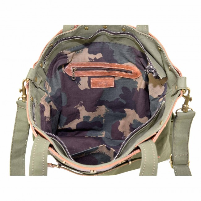 Canvas Leder Tasche