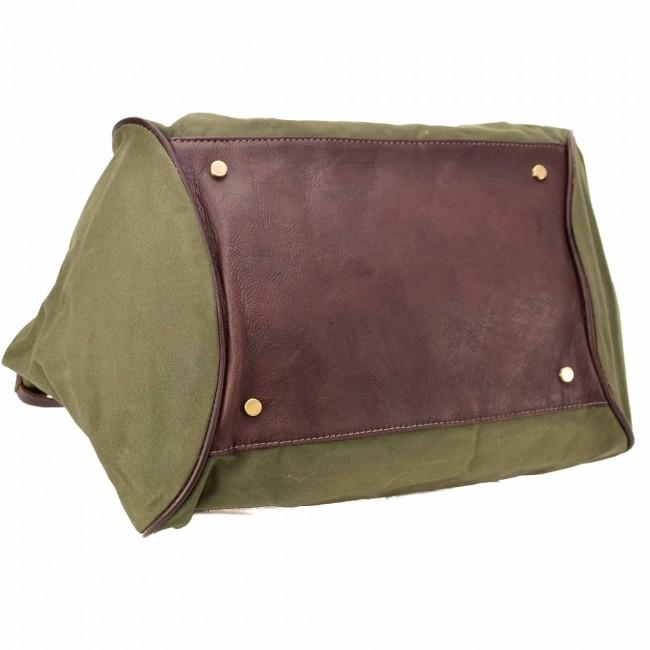 Canvas Handtasche Grün